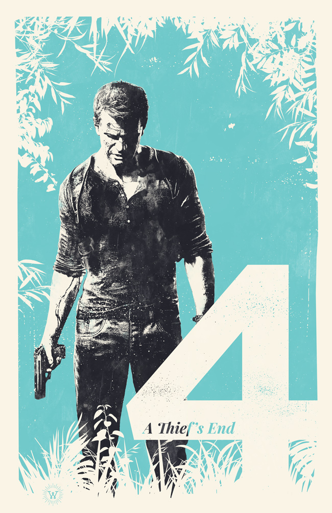 Uncharted 4 poster by billpyle