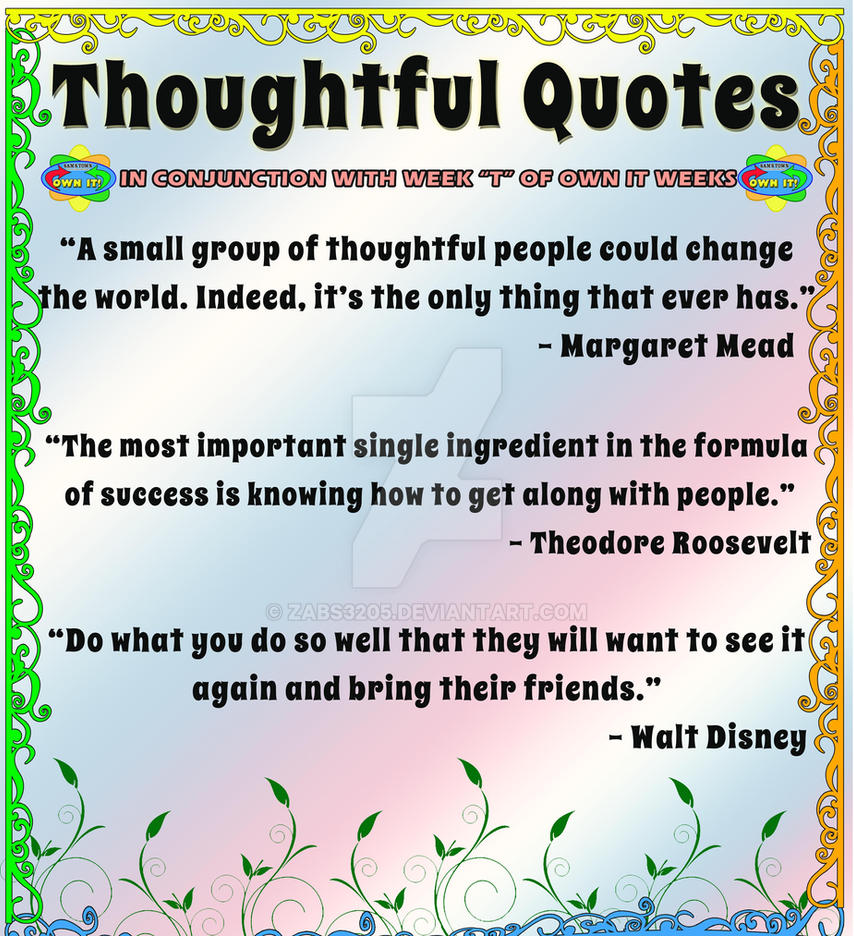 Thoughtful Quotes Thoughtful Quoteszabs3205 On Deviantart
