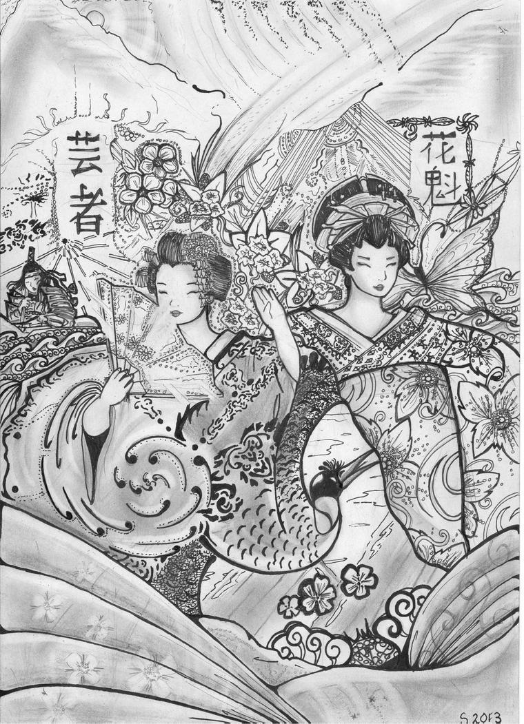 - The Geisha and The Oiran by Tamagi