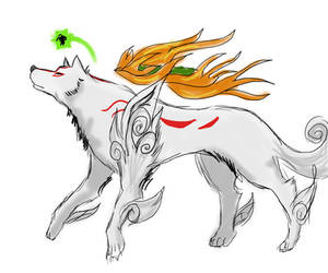 Ammy and Issun by crystalgreatsword