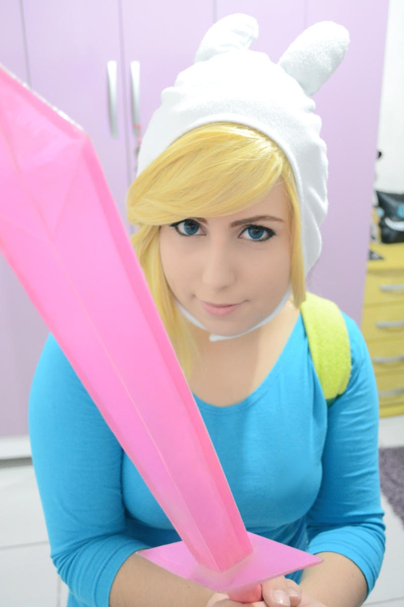fionna the human adventure time cosplay by neehime on
