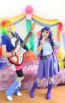 Rarity _ Rainbow Dash _ cosplay _ Equestria Girls