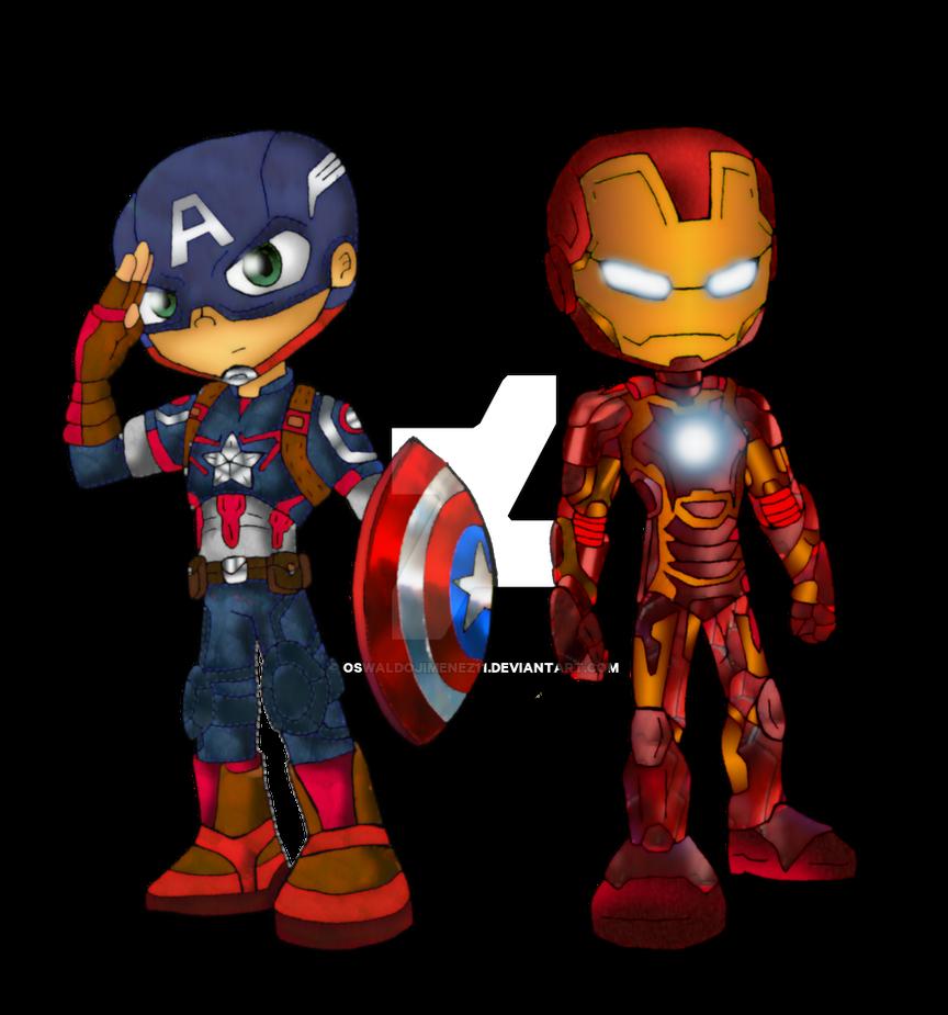 Captain America And Iron Man Aou By Oswaldojimenez11 On
