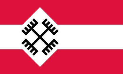 National Socialist Poland Flag