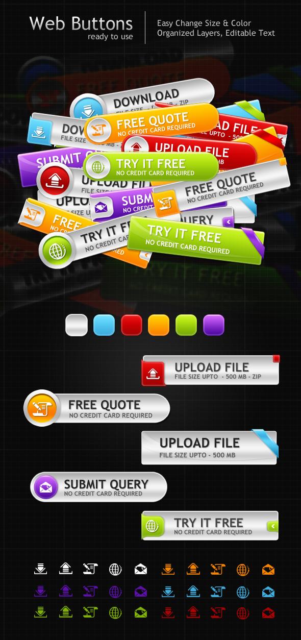 Web Buttons by aliarslan