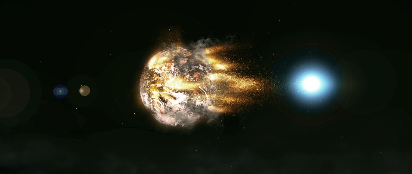 Neutron Star Collision by voolvif on DeviantArt