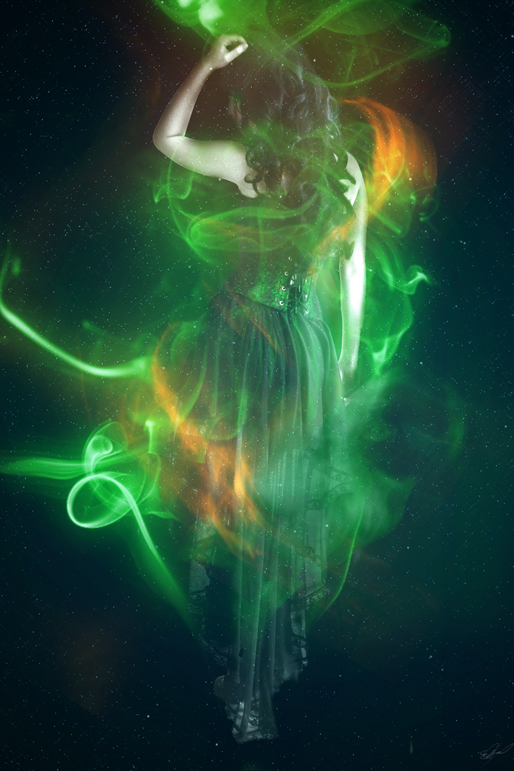 The Little Green Fairy by voolvif