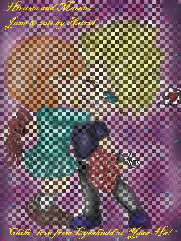 hiruma and mamori chibi love by yamileth15285 on deviantart