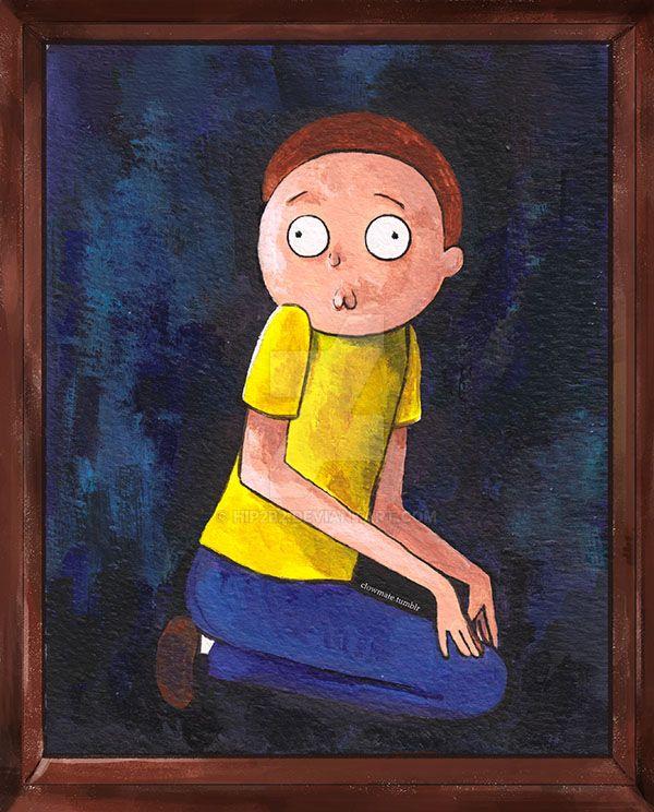 The Creepy Morty - Framed by hip2b2