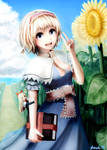 Alice Margatroid and sunflower