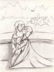 Luna and Fafner by dragonmind