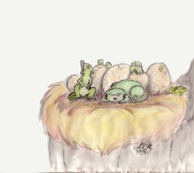 Baby Dragons by dragonmind