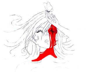 Girl with a scar by TabrisXhawk