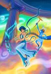 Princess Mercury and Disney Hermes by TabrisXhawk
