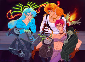 Amazon Trio and Disney the Fates