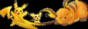 Pikachu Evolutions by Batnamz