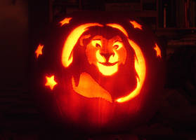 Mufasa Halloween Pumpkin by Batnamz