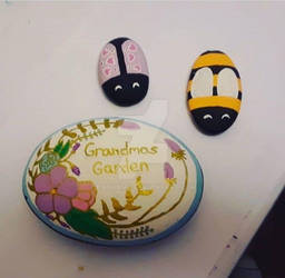 Grandmas Garden - painted rocks