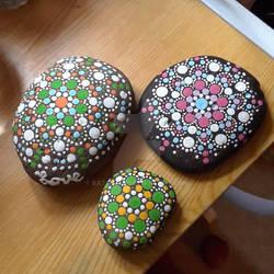 Mandala Dot painted rocks