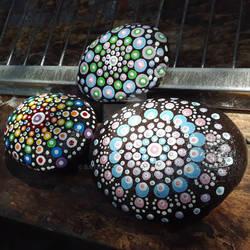Mandala Dot painted rocks 2