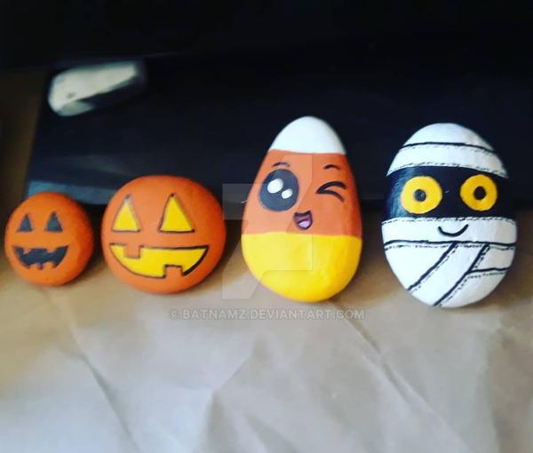 Halloween Rocks by Batnamz