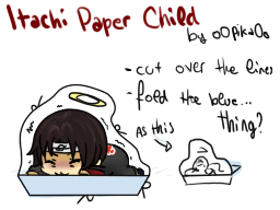 Itachi paper child by o0P1K40o