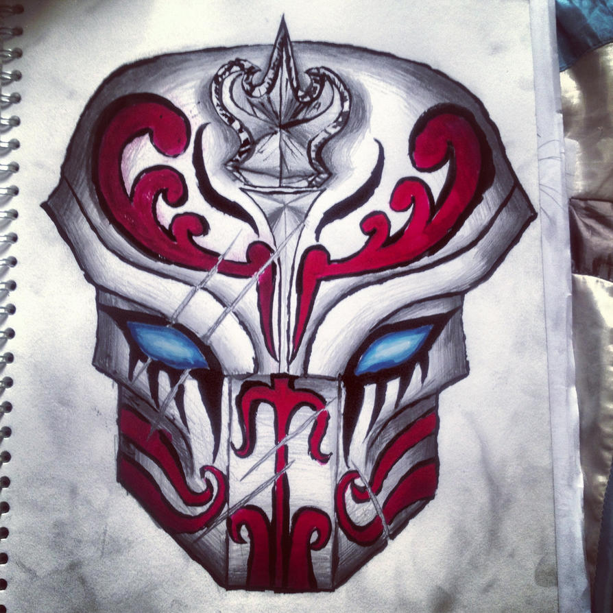 Samurai mask drawing by Naqieb on DeviantArt