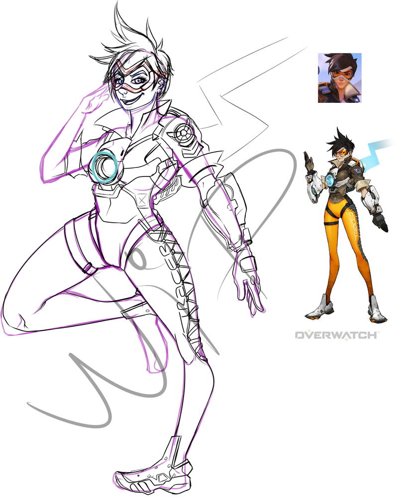 Tracer OW_ WIP by Dragoon-girl