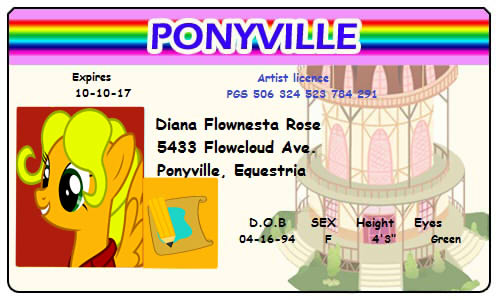 Flowing Rose Ponyville licence by AlexRozeHedgehog
