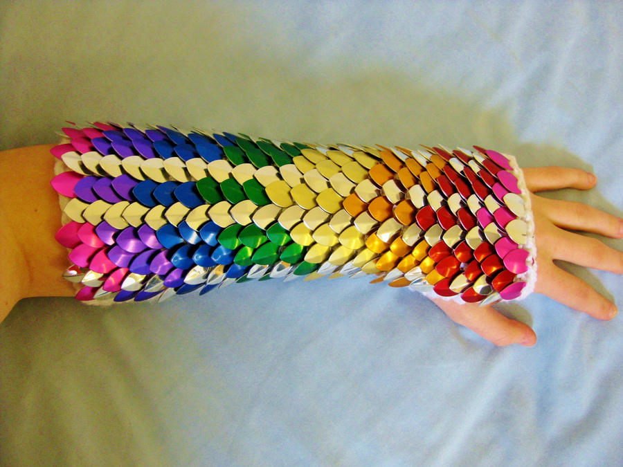 Super Rainbow Dragon Fists of Awesome by CraftyMutt