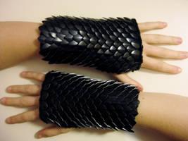 Dragon of Darkness Gloves by CraftyMutt