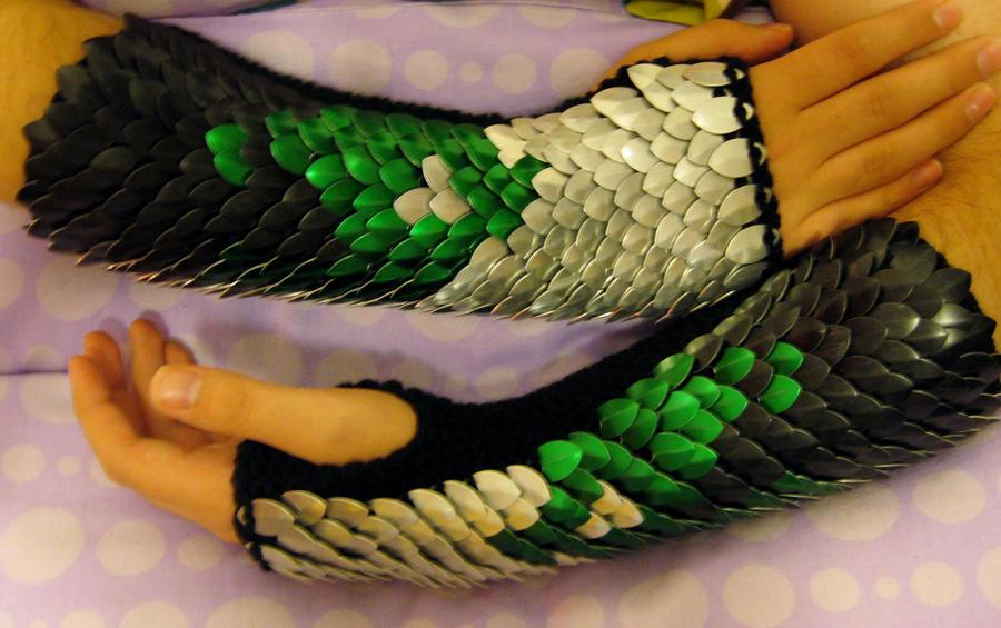 Green Fiery Gauntlets by CraftyMutt