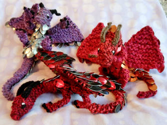 Scale Knit Baby Dragons by CraftyMutt