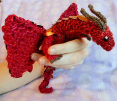 Red and Orange Baby Dragon