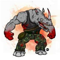 TMNT: Rocksteady Re-imagined by Jonnyetc