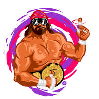 Macho Man Randy Savage by Jonnyetc