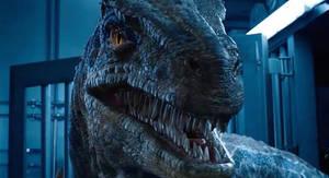 Jurassic World-Blue the Velociraptor Growling