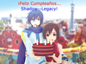 Happy Birthday in Barcelona, Shadow--Legacy!! by ConceptScion