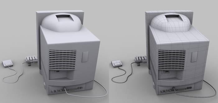 Mac Back clay render
