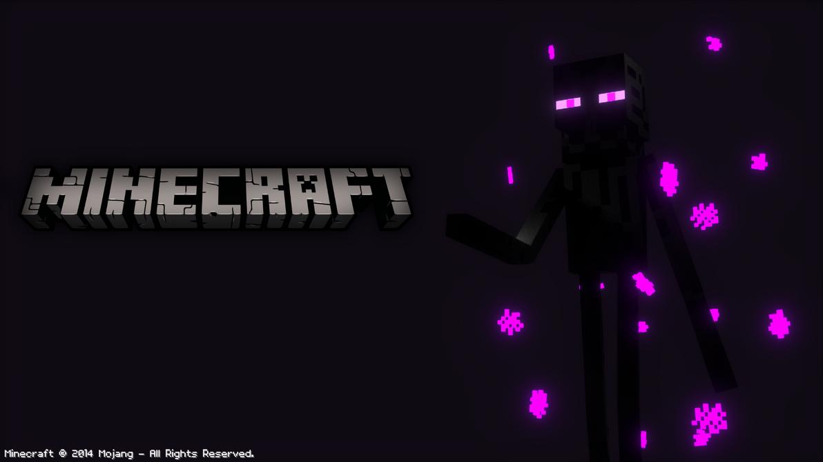 Minecraft Enderman Wallpaper By EnderAndroid