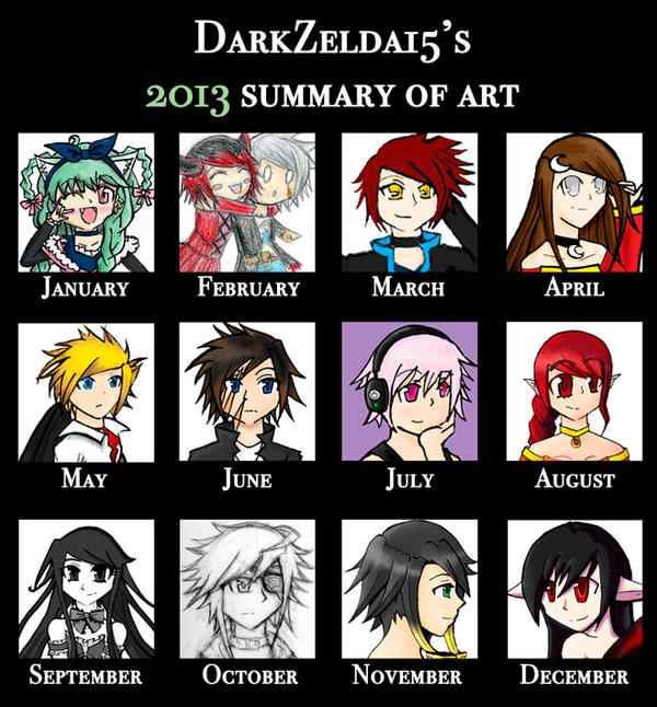 2013 Art Summary by Zephyras-Lied