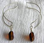 Amber Paperclip Earrings