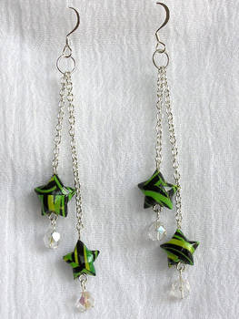 Paper Star Earrings v2