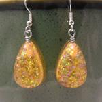 Amber Teardrop Earrings
