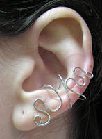 Scribble Ear Cuff by lavadragon