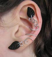 Leafy ear cuff by lavadragon