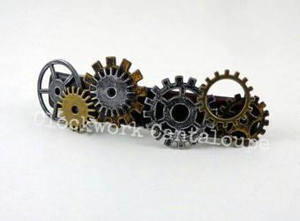 Clockwork Barrette by lavadragon