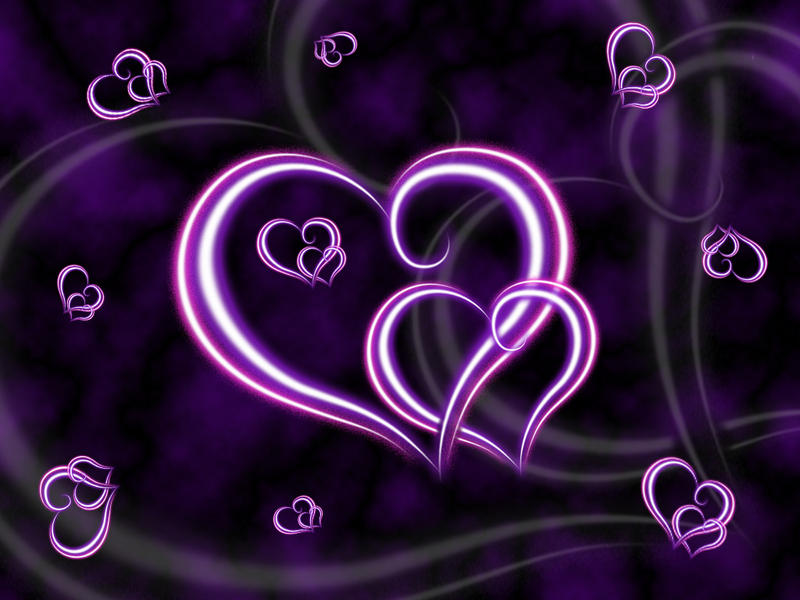 wallpaper of hearts. Purple Hearts Wallpaper by