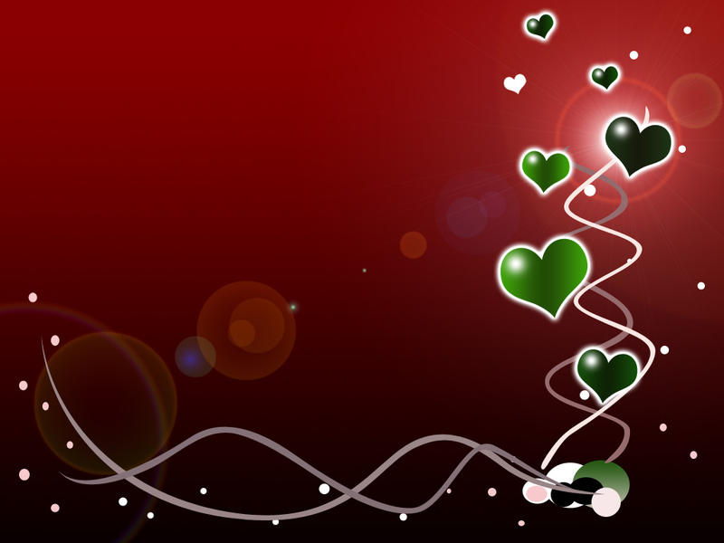 green hearts background - photo #9