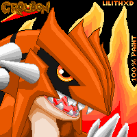 Groudon_Paint_Avatar by LilyRox